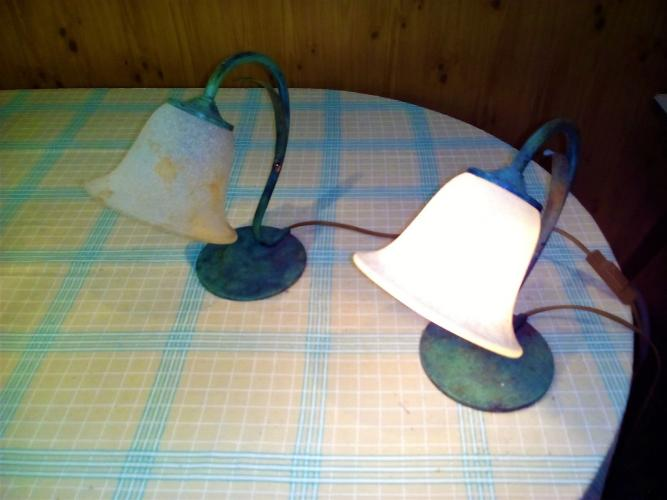 Abat jour antichi con campane di vetro Murano - 2/5