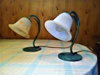 Abat jour antichi con campane di vetro Murano