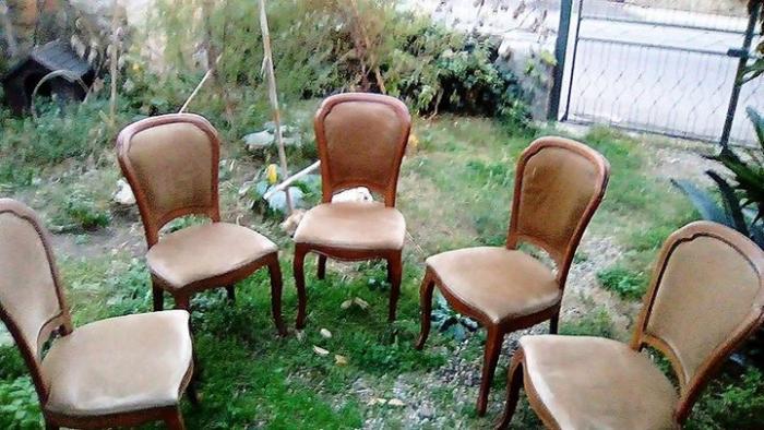 5 sedie in legno massello con seduta morbida - 1/4
