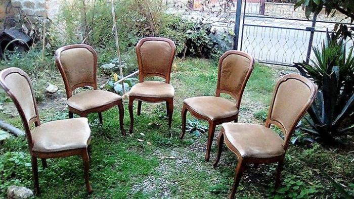 5 sedie in legno massello con seduta morbida - 4/4