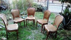 5 sedie in legno massello con seduta morbida - Immagine 4/4